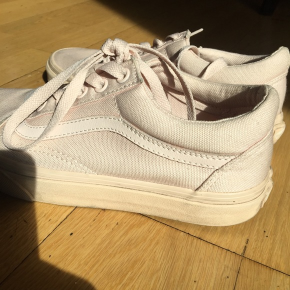 0a8f5821cd4 Vans Shoes - Baby Pink Vans Mono Canvas Old Skool